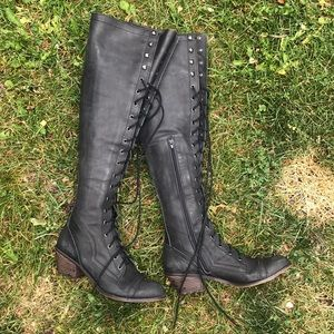 Joe Boots JEFFREY CAMPBELL FREE PEOPLE over knee